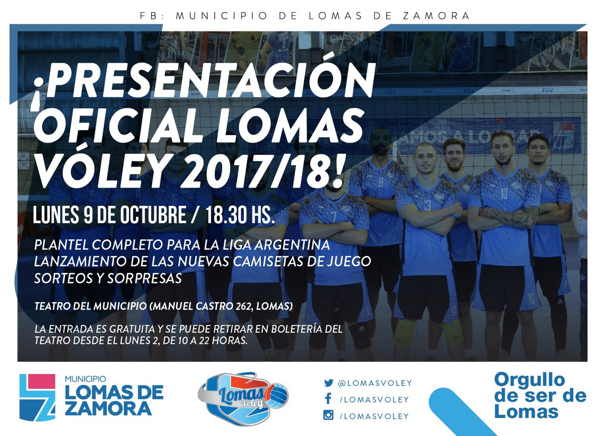 SE VIENE LA PRESENTACIÓN OFICIAL DE LOMAS VÓLEY 2017/18
