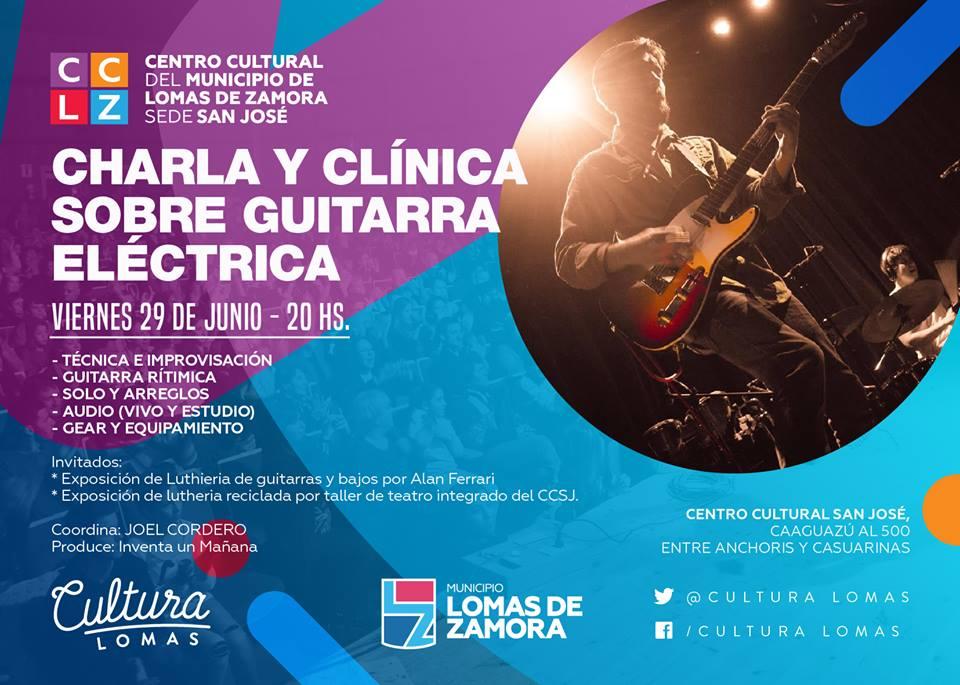 CHARLA Y CLÍNICA SOBRE GUITARRA ELÉCTRICA
