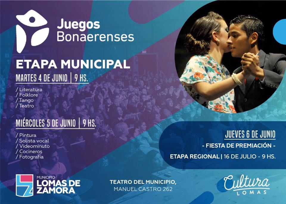 ETAPA MUNICIPAL DE LOS JUEGOS BONAERENSES EN CULTURA