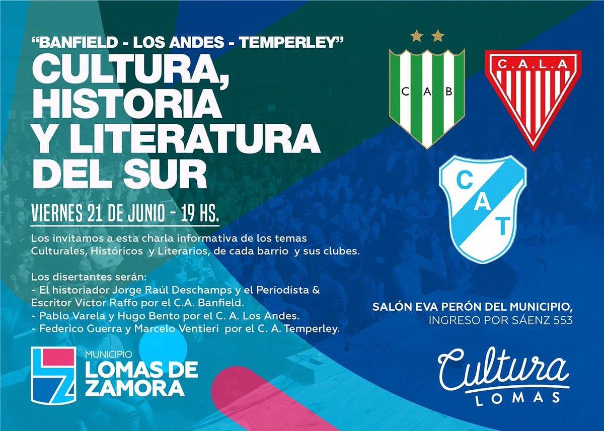 LOS CLUBES BANFIELD, TEMPERLEY Y LOS ANDES, UNIDOS POR LA CULTURA