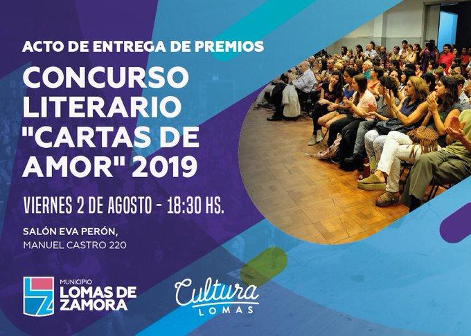 ENTREGA DE PREMIOS DEL CONCURSO LITERARIO «CARTAS DE AMOR»