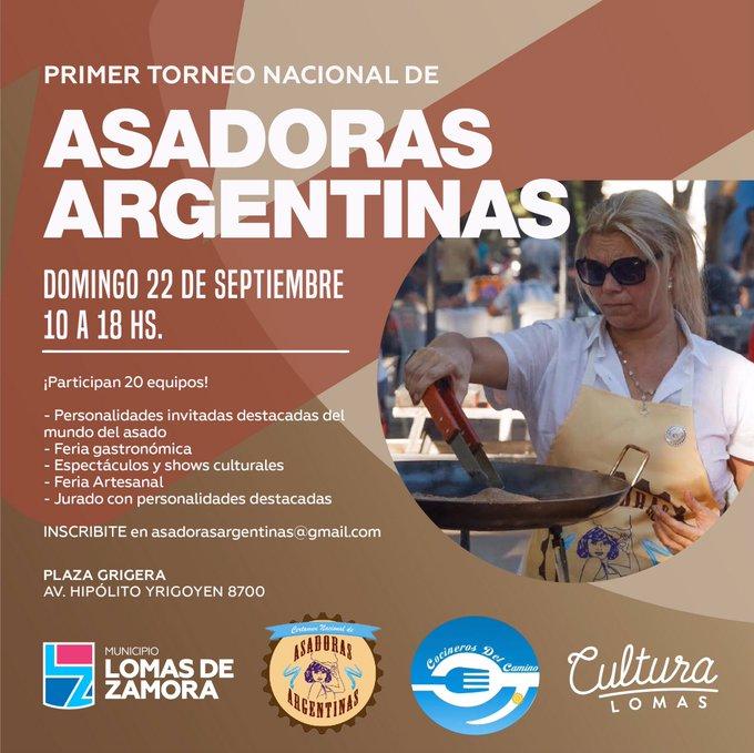 SE VIENE EL PRIMER TORNEO NACIONAL DE ASADORAS ARGENTINAS
